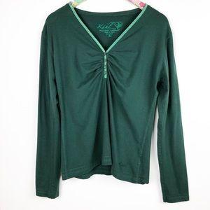 Kuhl Long Sleeve Organic Cotton Top Emerald Green
